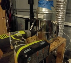 diy-coffee-roaster-in-operation